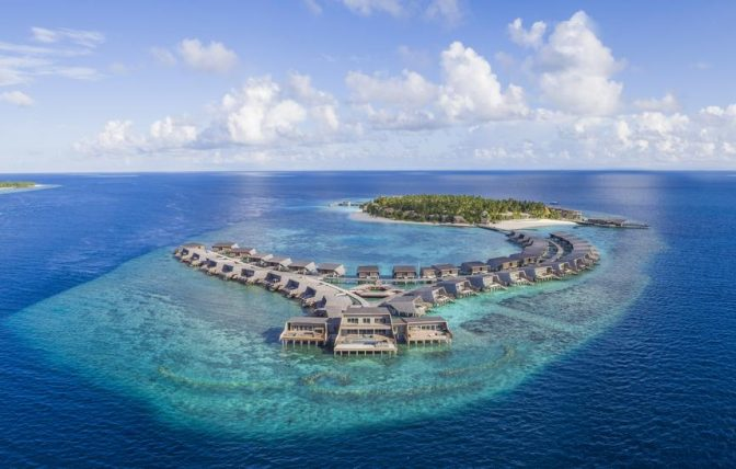 The St. Regis Maldives aerial